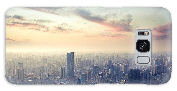Dusk Galaxy Case - A Birds Eye View Of Shanghai At Dusk by Chuyuss