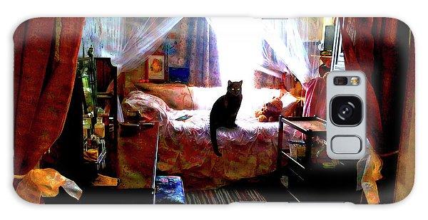 Galaxy Case featuring the digital art A Cat's Favorite Spot by Joy McKenzie