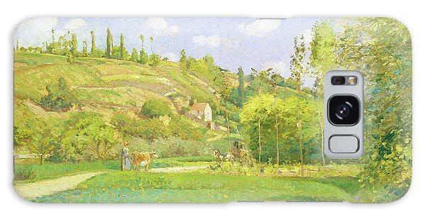 Country Living Galaxy Case - A Cowherd At Valhermeil, Auvers-sur-oise - Digital Remastered Edition by Camille Pissarro