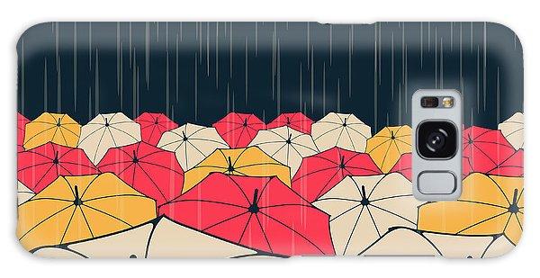 Parasol Galaxy Case - A Field Of Umbrellas Under The Rain, In by L.dep