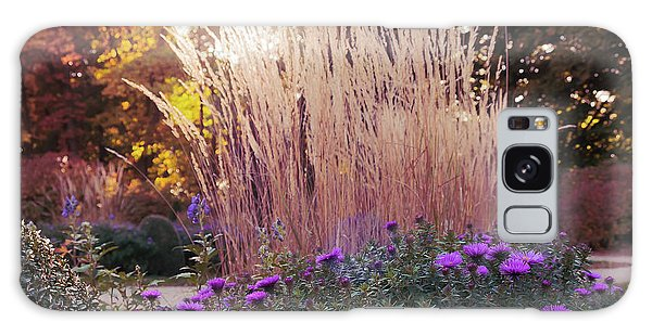 A Flower Bed In The Autumn Park Galaxy Case