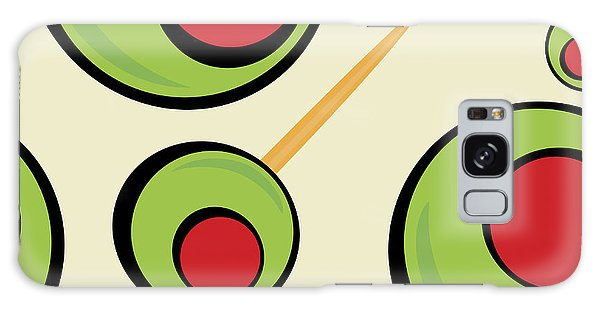 Martini Galaxy Case - A Green Olives Pattern That Tiles by Arena Creative