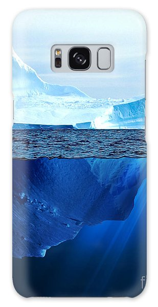 Reflections Galaxy Case - A Large Iceberg In The Cold Blue Cold by Sergey Nivens