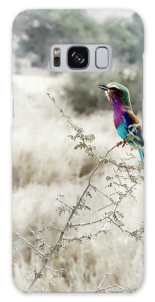 A Lilac Breasted Roller Sings, Desaturated Galaxy Case
