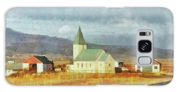 Galaxy Case featuring the digital art A Lone Church On The Open Road In The Snaefellsnes Peninsula by Digital Photographic Arts