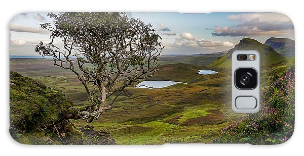 Fairy Pools Galaxy S8 Case - A Lonely Tree From Quiraing Mountains In Isle Of Skye, Scotland. by George Afostovremea