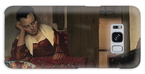 Jan Vermeer Galaxy Case - A Maid Asleep, 1657 by Jan Vermeer