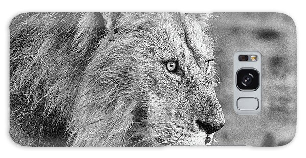 A Monochrome Male Lion Galaxy Case