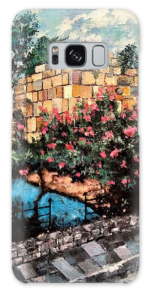 Galaxy Case featuring the painting A Roman Wall by Ray Khalife