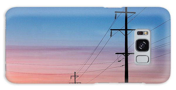 Cloudscape Galaxy Case - A Silhouette Of High Voltage Power by Todd Klassy