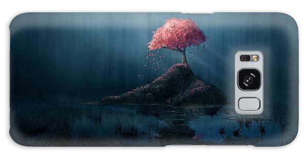 Beam Galaxy Case - A Single Pink Tree In A Dark Blue by Amanda Carden