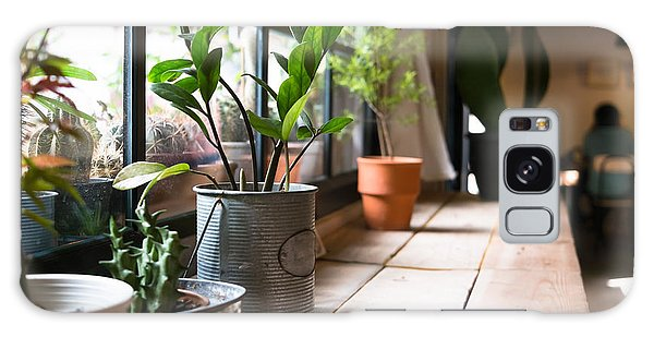 Metal Leaf Galaxy Case - A Small Plant Pot Displayed In The by Imnoom