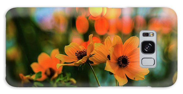 Sunflower Bokeh Sunset Galaxy Case