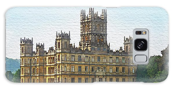 A View Of Highclere Castle 1 Galaxy Case