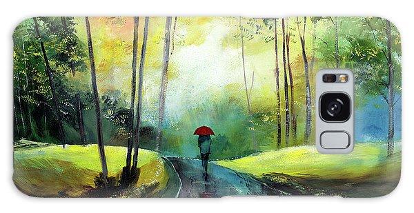 A Walk In The Rain Galaxy Case
