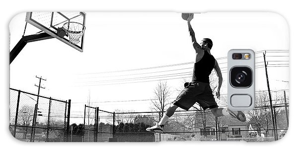 Sportsman Galaxy Case - A Young Basketball Player Flying by Arena Creative