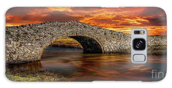 Galaxy Case - Aberffraw Bridge Sunset by Adrian Evans