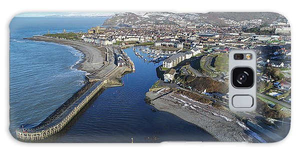 Aberystwyth Harbour From The Air In Winter Galaxy Case