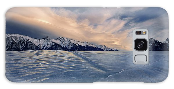 Abraham Lake Ice Wall Galaxy Case