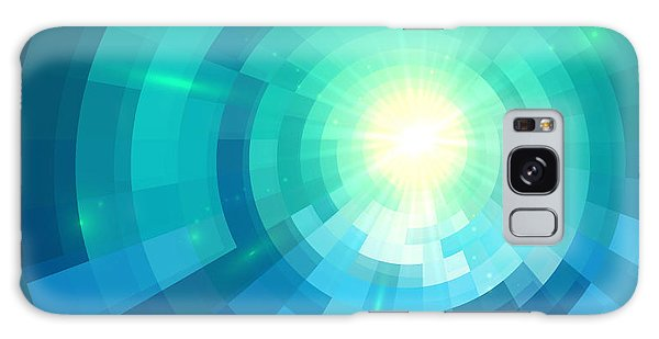 Glow Galaxy Case - Abstract Blue Shining Circle Tunnel by Art of sun