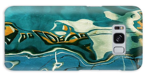 Galaxy Case featuring the photograph Abstract Boat Reflection V Color by David Gordon