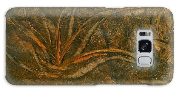 Abstract Brown/orange Floral In Encaustic Galaxy Case