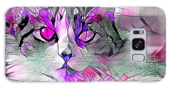 Abstract Calico Cat Purple Glass Galaxy Case