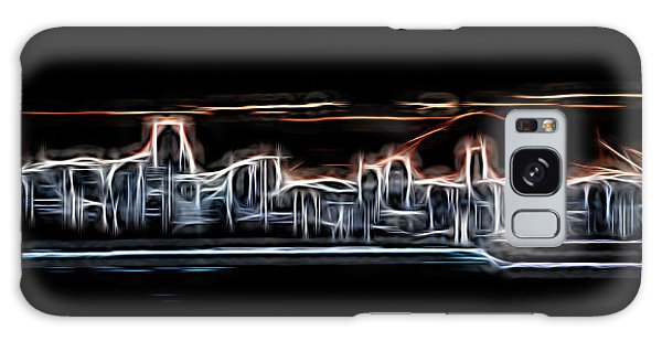 Vancouver City Galaxy Case - Abstract City Neon by Rick Deacon