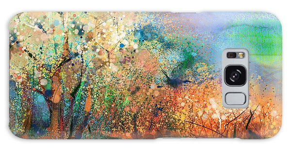 Semis Galaxy Case - Abstract Colorful Landscape Painting by Pluie r