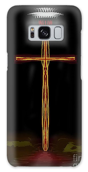 Abstract Cross With Halo Galaxy Case
