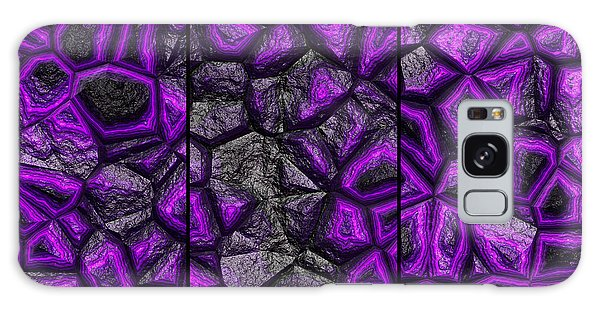Abstract Deep Purple Stone Triptych Galaxy Case