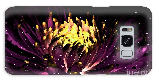 Abstract Digital Dahlia Floral Cosmos 891 Galaxy Case