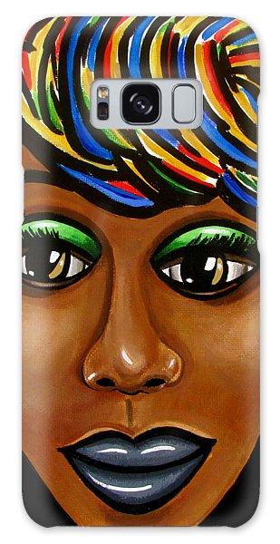 Abstract Art Black Woman Retro Pop Art Painting- Ai P. Nilson Galaxy Case