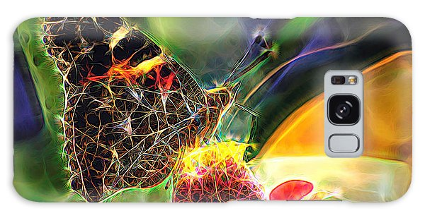 Abstract Painted Lady Butterfly Galaxy Case