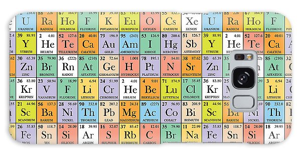 Scientific Illustration Galaxy Case - Abstract Periodic Table. Vector by Fabiangame