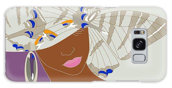 Earring Galaxy Case - Abstract Portrait Of An African Woman by Viktoriya Pa