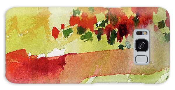 Abstract Red Poppies Panorama Galaxy Case