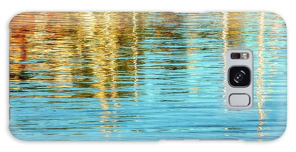 Abstract Reflections In Camden Harbor Maine Galaxy Case