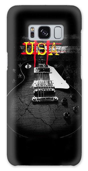 Abstract Relic Guitar Usa Flag Galaxy Case