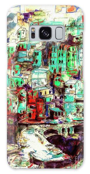 Abstract Riomaggiore Cinque Terre Art Galaxy Case