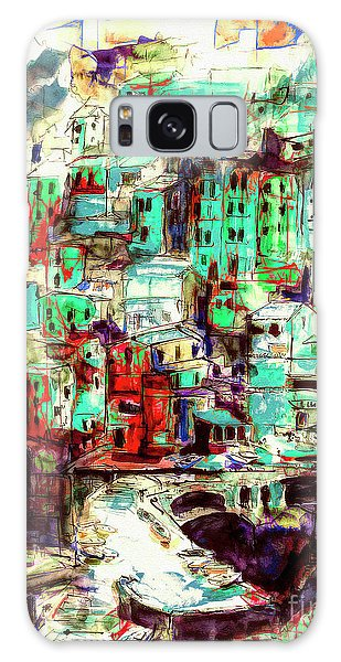 Abstract Riomaggiore Cinque Terre Art Galaxy Case