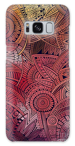 Mexican Galaxy S8 Case - Abstract Vector Tribal Ethnic by Balabolka