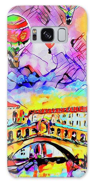 Abstract Venice Rialto Bridge Balloons Galaxy Case