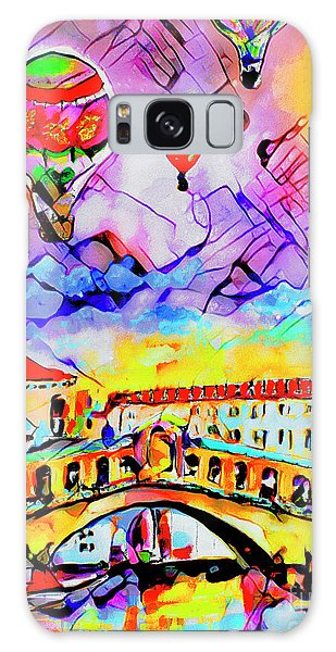 Abstract Venice Rialto Bridge Balloons Galaxy Case