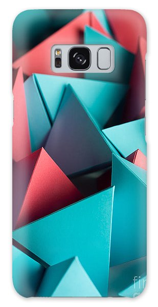 No People Galaxy Case - Abstract Wallpaper Consisting Of by Comaniciu Dan