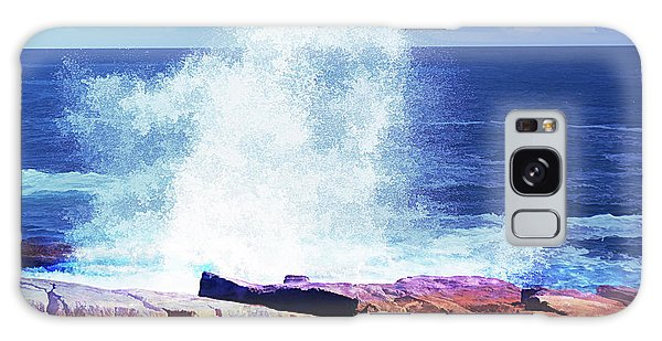 Crashing Waves At Schoodic Point Abstract Galaxy Case