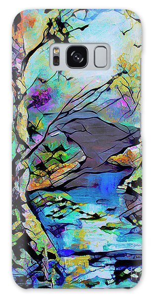 Abstract Wetland Trees And River Galaxy Case