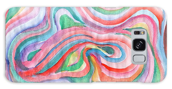 Abstraction In Spring Colors Galaxy Case