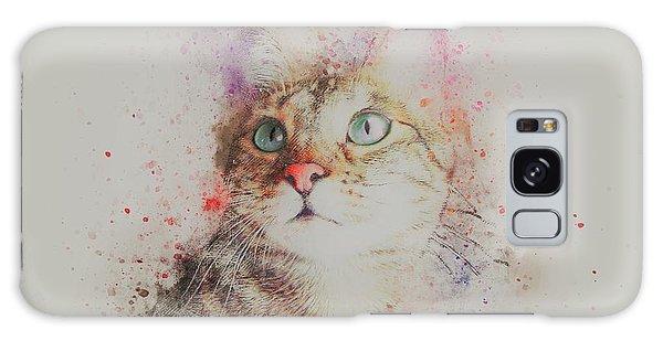 Watercolor Pet Portraits Galaxy Case - Abyssinian Cat by ArtMarketJapan