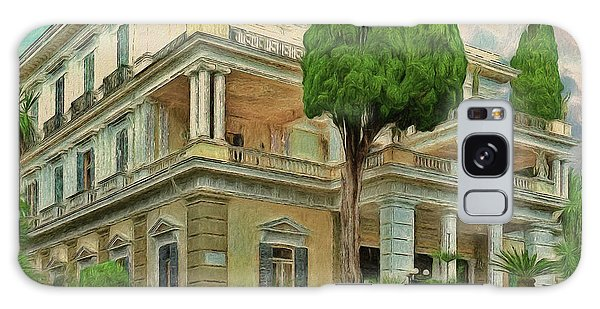 Galaxy Case featuring the photograph Achilleion Palace Corfu by Leigh Kemp